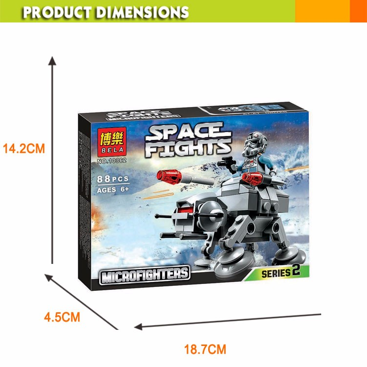 BELA Creative Building Brick Toys Kits Space Fights Series