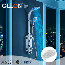 Factory competitive price color changing led shower with massage jets