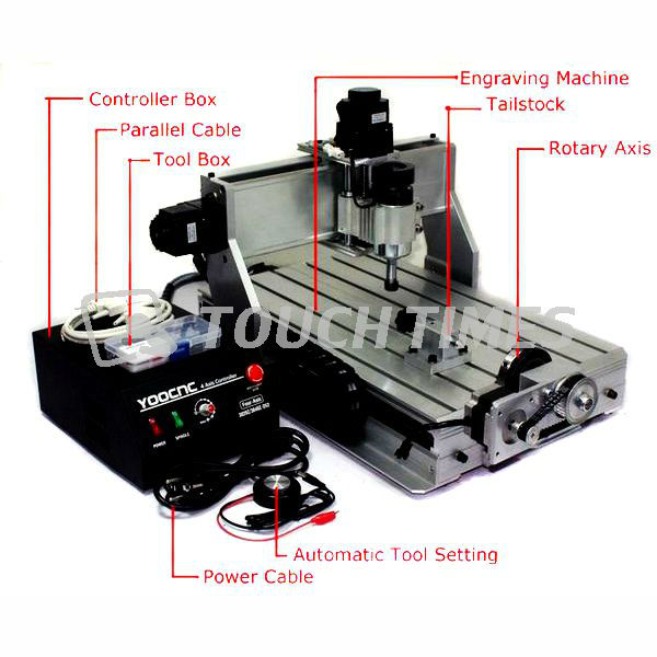 2013 Hot 4 AXIS CNC 3040 Z-DQ Ball Screw Update from 3040 3040T CNC Router Engraver