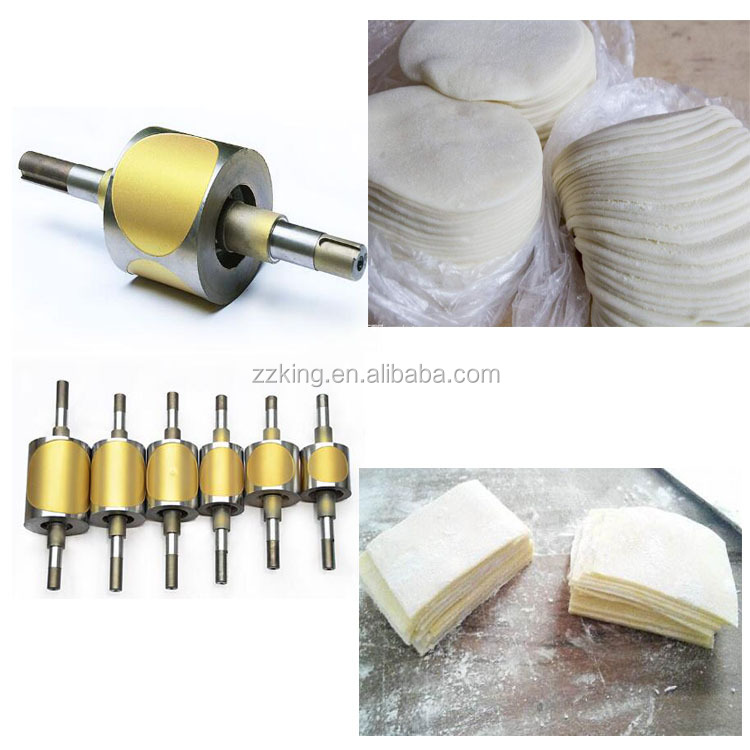 Round square dumpling wonton samosa ravioli pastry skin wrapper making machine