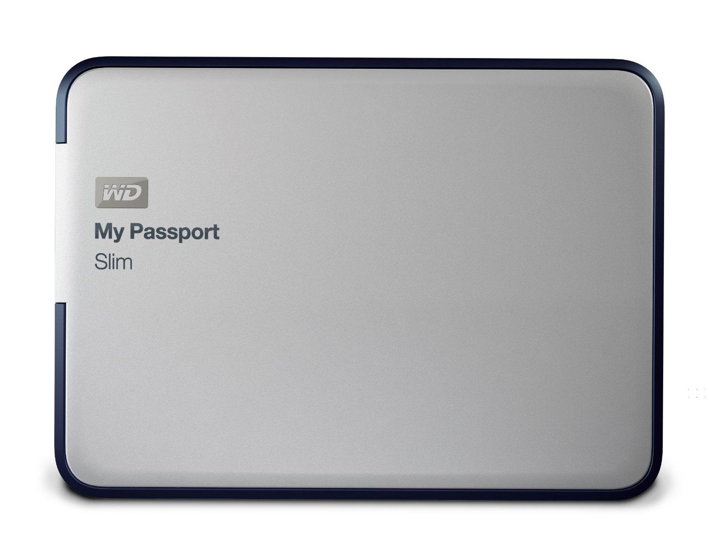 WD My Passport Slim 1TB Portable Metal External Hard Drive USB 3.0 with Auto Backup