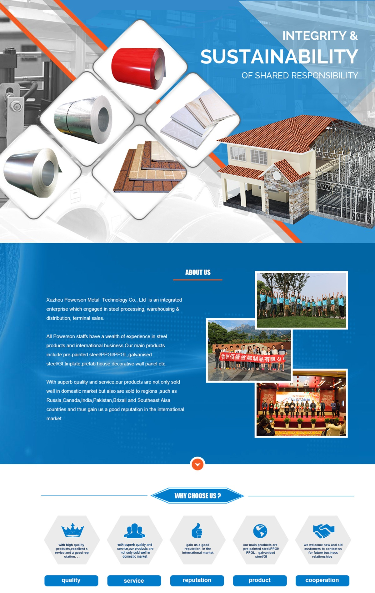 Xuzhou Powerson Metal Technology Co., Ltd. - Color Coated Steel ...