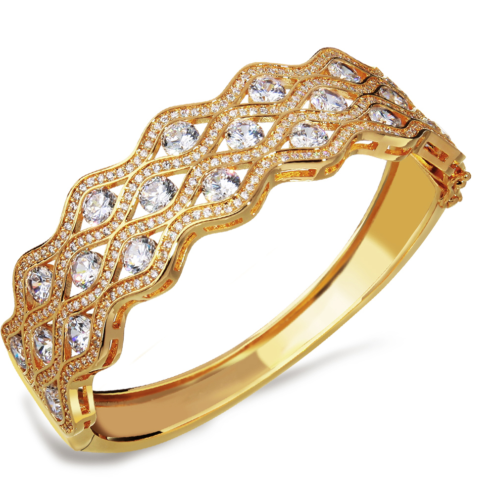 Wholesale Bracelets bangles women gold plated Cubic ...
