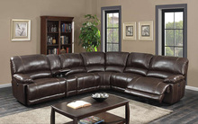 American style leather sofa, modern corner sofa with okin recliner chair ZOY9942B