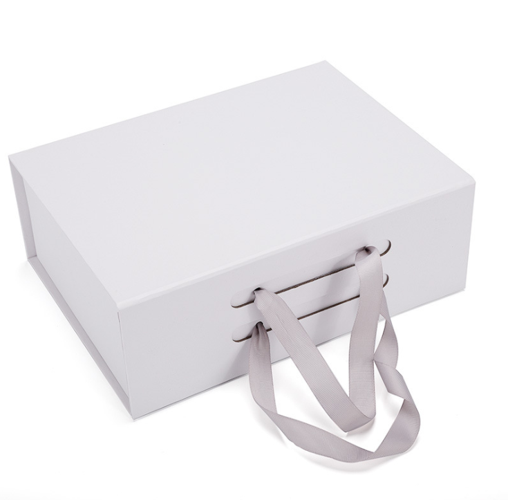 Grey Corrugated Carton Box With Handle