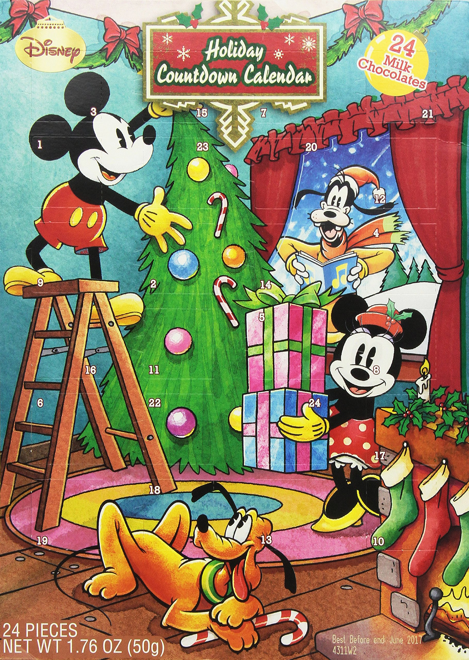 Disney Holiday Countdown Calendar with Chocolates (Disney Mickey Mouse & Friends)