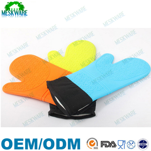 Heat resistant flexible colorful silicone oven glove manufacturers mitts