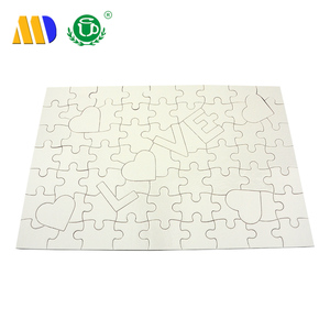 MIDA wholesale promotion paper custom jigsaw puzzle love words sublimation rectangle A4 jigsaw puzzle