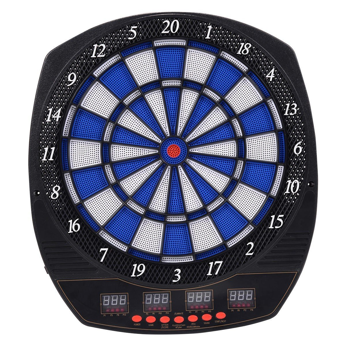 MD Group Electronic Dart Board Set ABS Arachnid LCD Display with 6 Darts Multi-player Games
