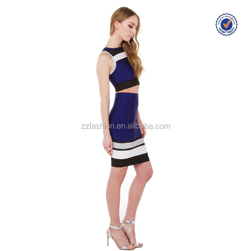 So Dedicated Navy Combo Mesh Midi Skirt Latest Formal Crop Top And ...