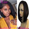 Straight Middle Part 150% Density Wholesale Brazilian Short Bob Silk Base Full Lace Human Hair Wigs For African American