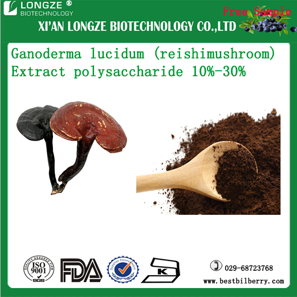 Spray dried Reishi Mushroom Extract Powder Ganoderma lucidum(Leyss.ex Fr.)Karst. Extract polysaccharide 30%