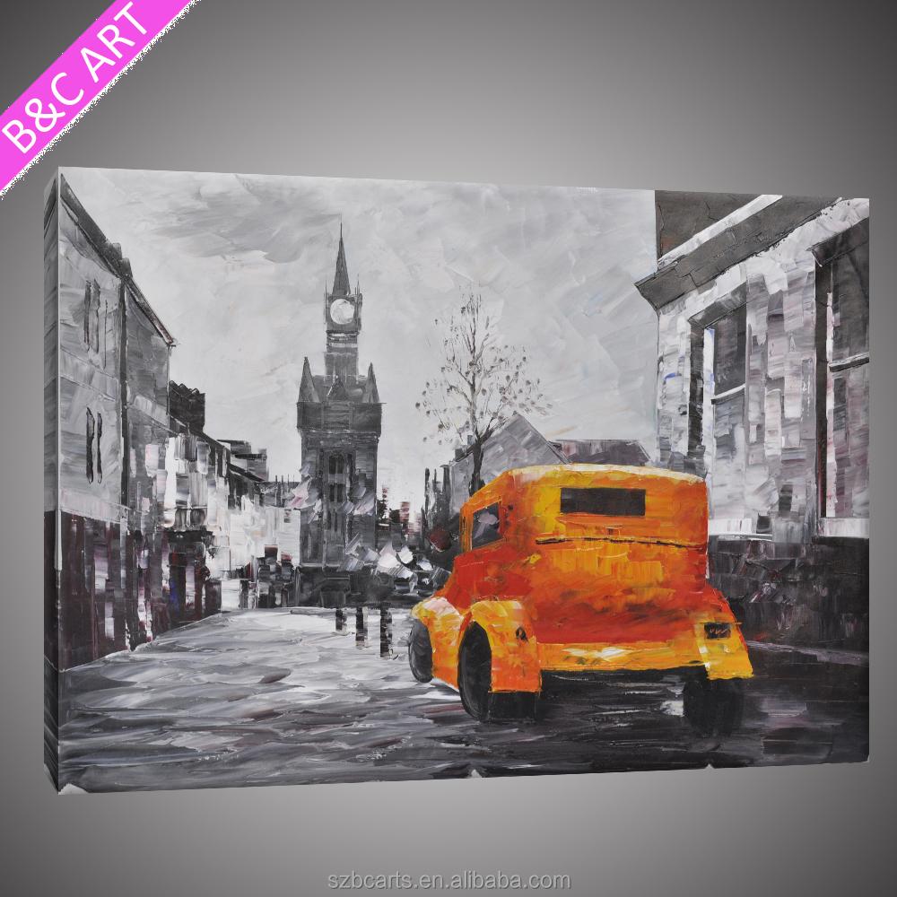 Handmade Home Decor 2017 Newest Design Orange Car Abstract Oil Painting On Alibaba Shop