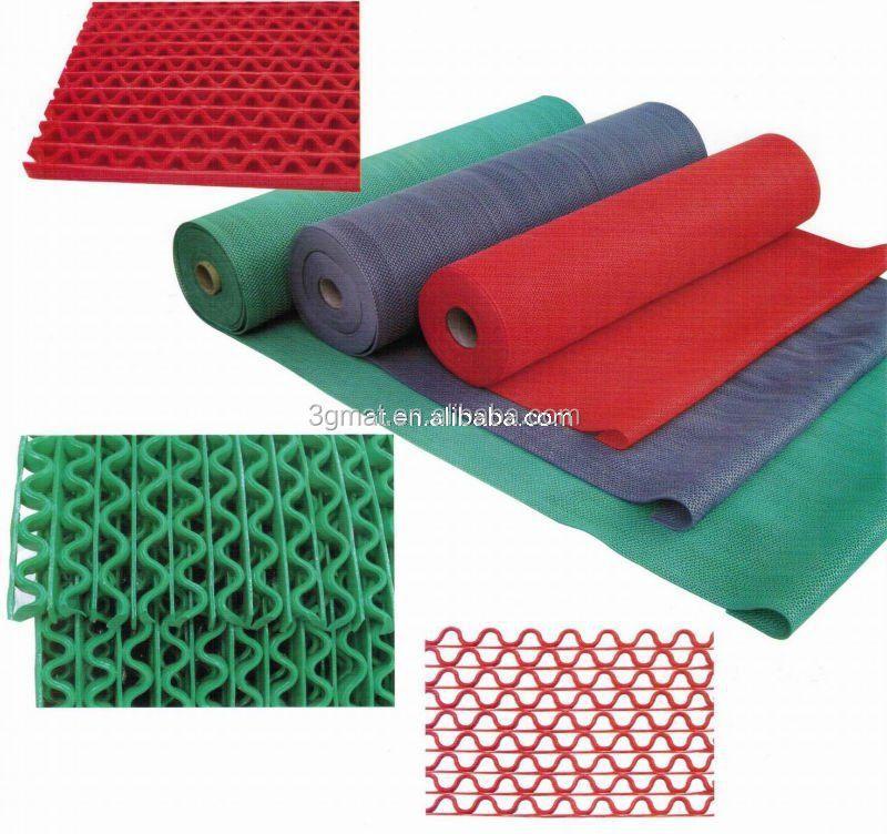 S-shape Washproof Pvc Mat Roll