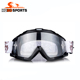 Red soft TPU frame best durable anti slip strap MX goggles with tear off