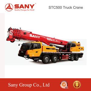 SANY STC500 50 Tons Fuel-Economy King Mounted Tyre Crane of Truck Crane Korea