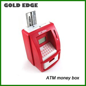 plastic children's electronic ATM money bank coin box