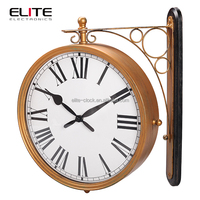 railway station hanging antique double sided wall clocks