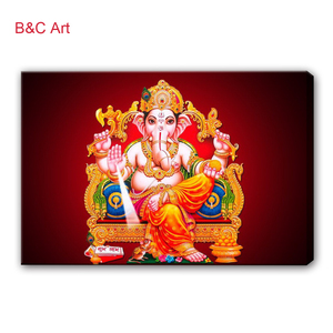 Inspirational Wall Art Indian God Home Decor Painting Ganesha Wall Hanging