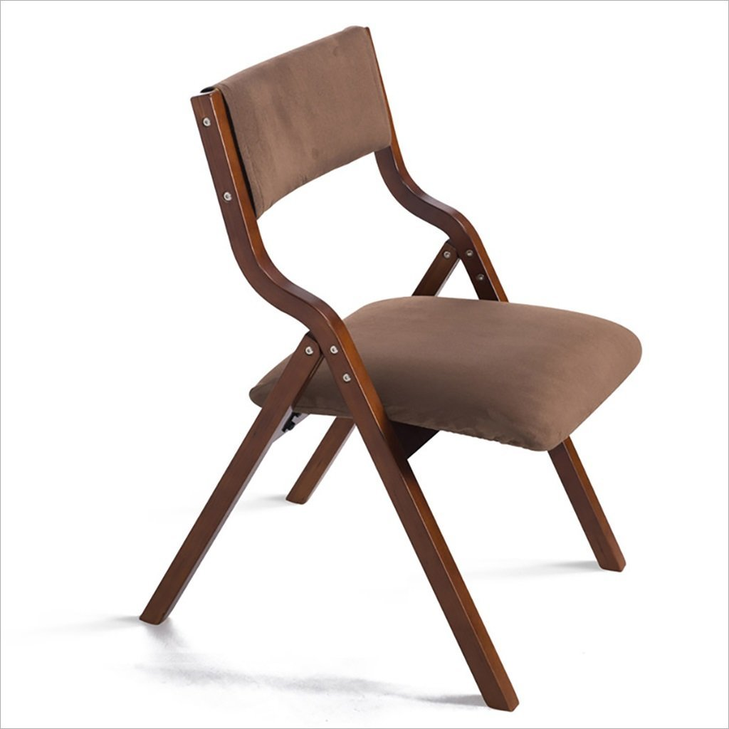 fold up chairs Home simple portable solid wood folding dining chair, simple folding back computer chair, living room lounge chair (Size: 78.5cm high) Folding Chairs (Color : A)