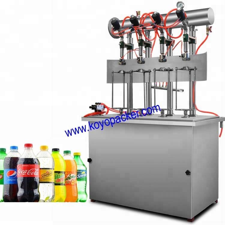 कोयो स्वत: कार्बोनेटेड तरल भरने की मशीन के लिए प्लास्टिक की बोतल
