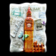 Hot Sale UK London Tourist Souvenirs 3D Resin Fridge Magnet