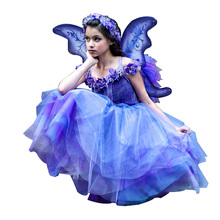 2014 fancy party dresses costumes for girls elf butterfly costumes for kids girls with wings fairy elf costume photo
