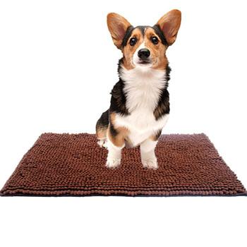 Dog Mat Super Absorbent Doormatmicrofiber Pet Pad Pebbies Rug