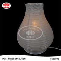 Indoor lighting white rice paper modern table lamp on sale