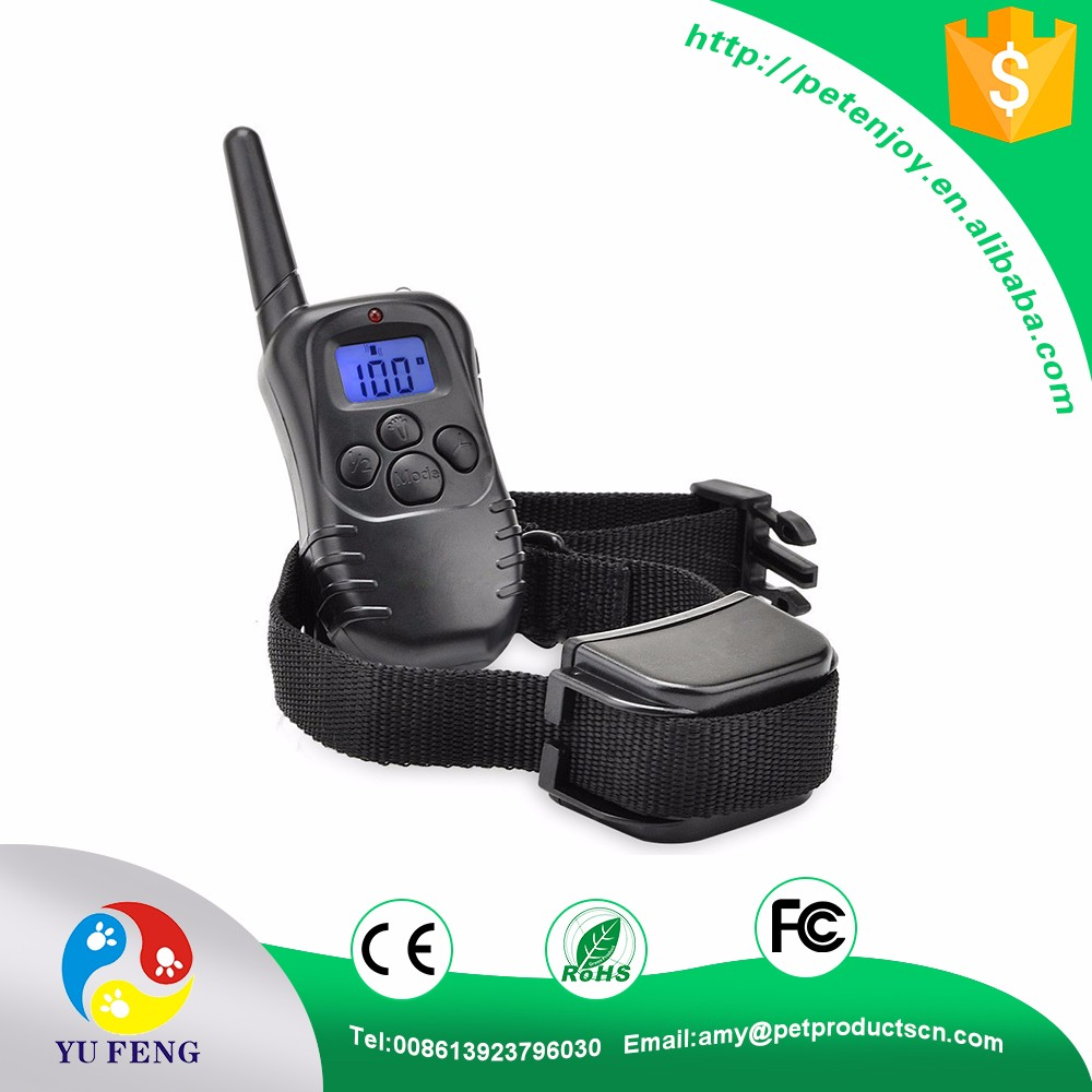 2017 Newest Best Promotion 300M Rechargeable Waterproof Shock Vibration Remote Control LCD Back Light Electric Shock Collar
