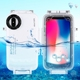 PULUZ for iPhone X 40m/130ft Waterproof Diving Housing Photo Video Taking Underwater Cover Case