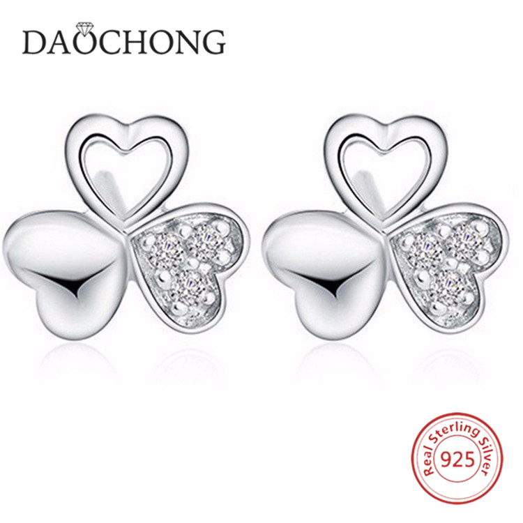 Hot Sale Stylish 925 Sterling Silver Gift Earrings Jewelry