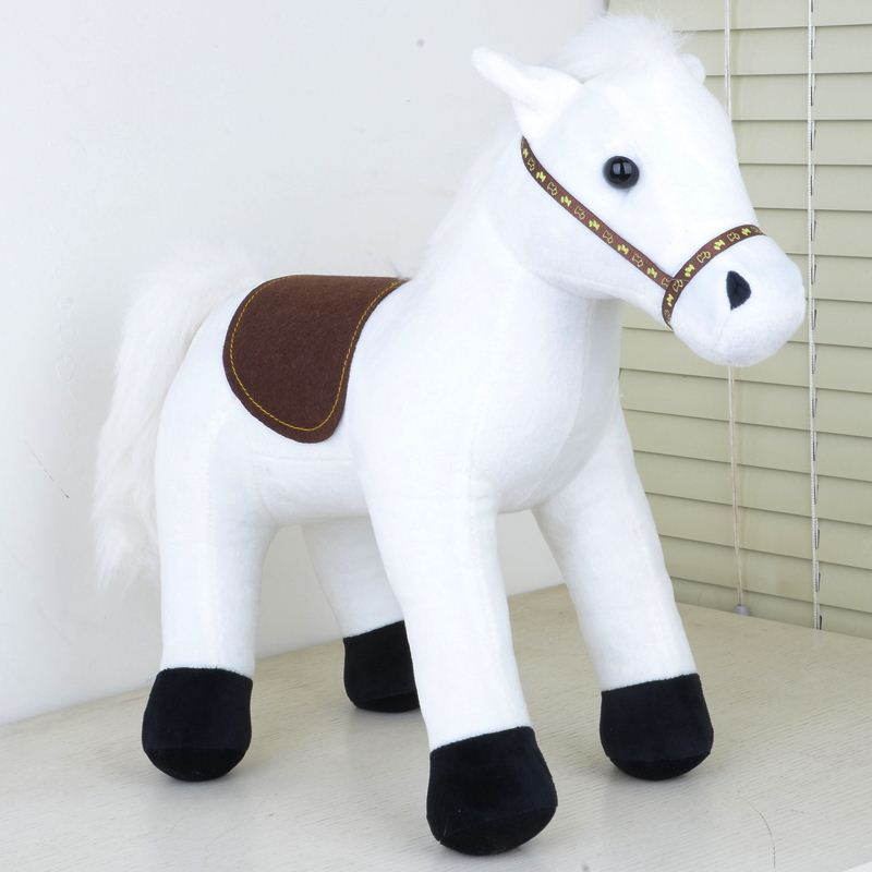 Free shipping White Horse Ornaments Plush Toys Doll For Children 35cm Baby Toys Horse