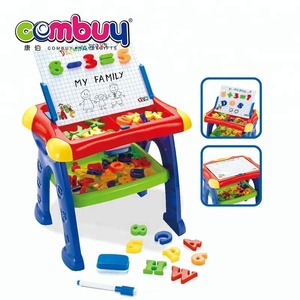 New style educational learning table set children drawing magnetic magic writing board