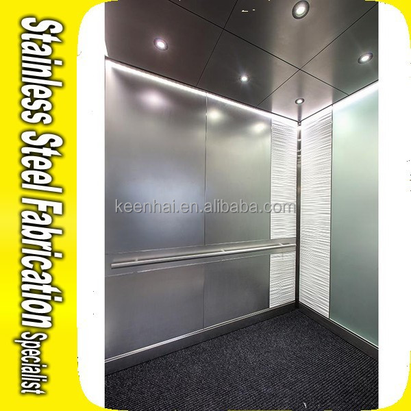 Ss 304 Hairline Finish Stainless Steel Elevator Ceiling Panel ...