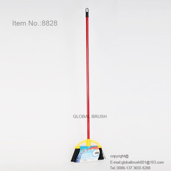 Hq8828 Soft Bristle Broom Long Handle Floor Cleaning Brush