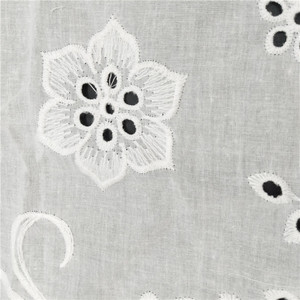 Embroidery cotton fabric embroidery fabric with holes dress lace design