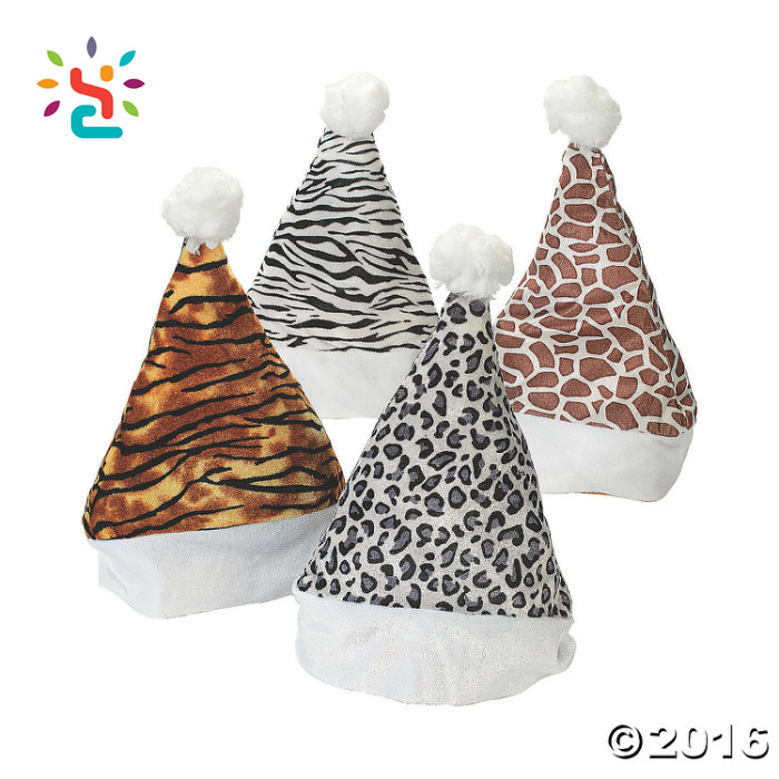 2017 Christmas Animal Print Santa Hats Christmas Stocking Cap,Party Decoration Christmas Hat Find Classic Santa Hat