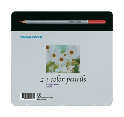 COLORED PENCIL (FULL LENGTH, 24 COLORS, TIN BOX)