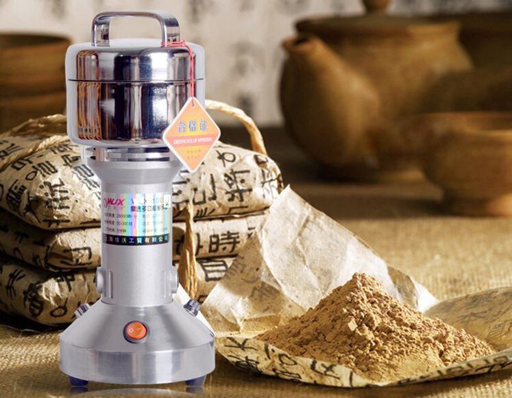 100g Portable Stainless Steel Best Motor Mini Electric Grain Weed Salt Spice Food Coffee Pepper Mill Grinder Machine