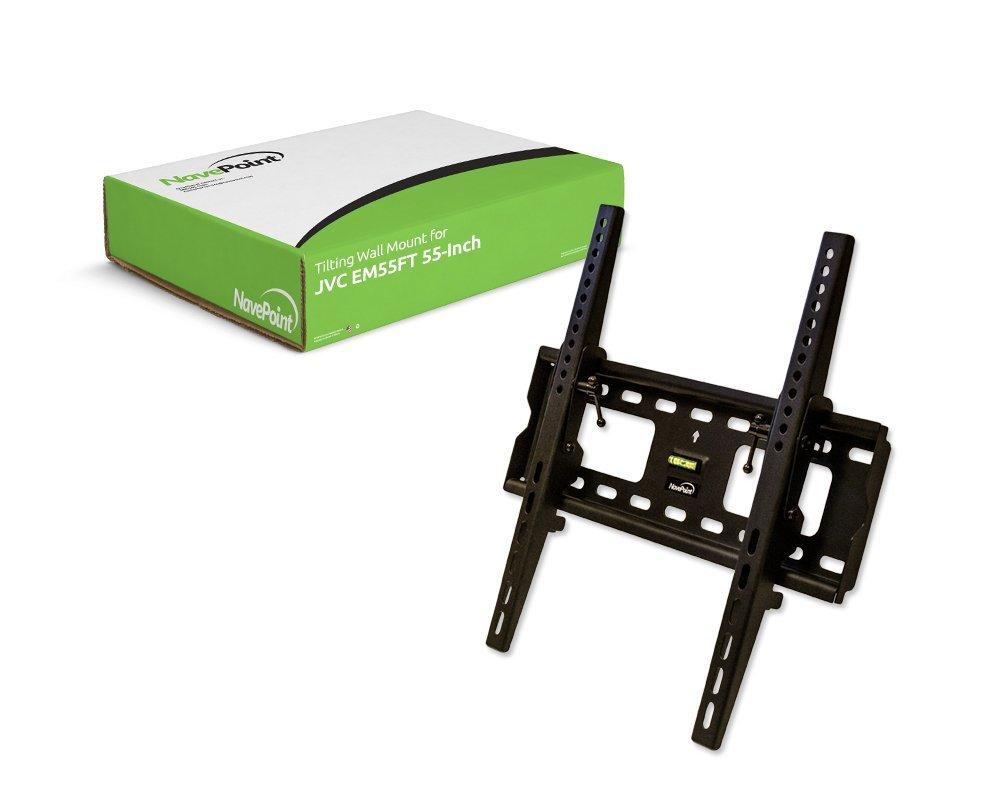 NavePoint Tilting TV Wall Mount Bracket LCD LED Tilt for JVC EM55FT 55-Inch Flat Screen TV Black