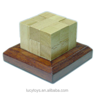 Blocks Tower brain teaser Wooden puzzle game iq pyramid