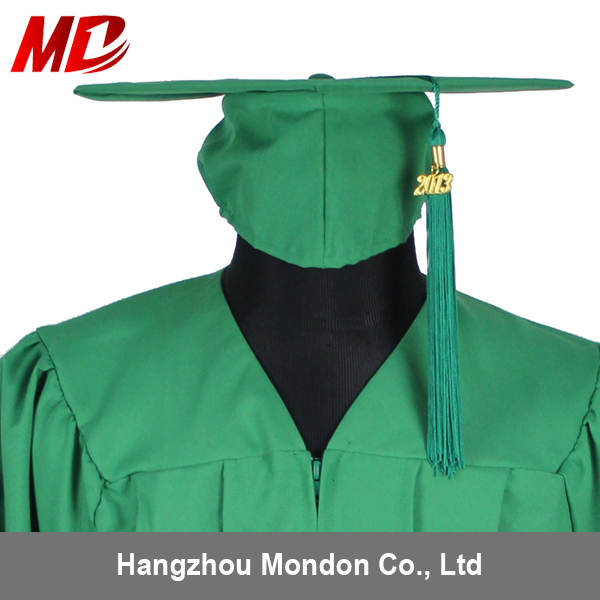 Wholesale Plastic Forest Green Kindergarten Graduation Cap