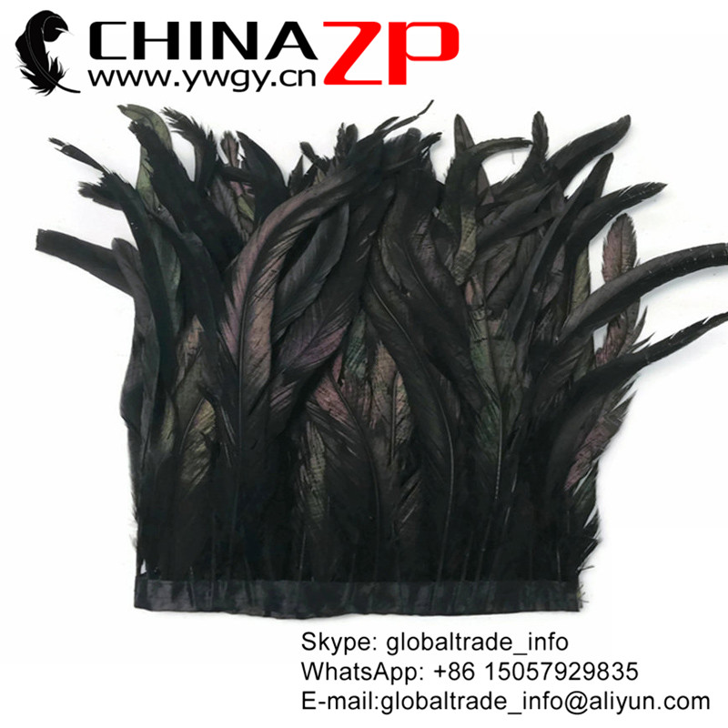 """US Seller 20 Pcs Dyed Black Rooster Coque Tail Feathers 14-16/"""""""