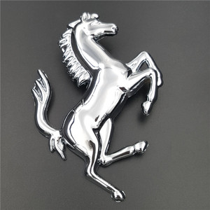Custom Zinc Alloy Adhesive Horse Car Badge Emblem Car Sticker For Car Accessory