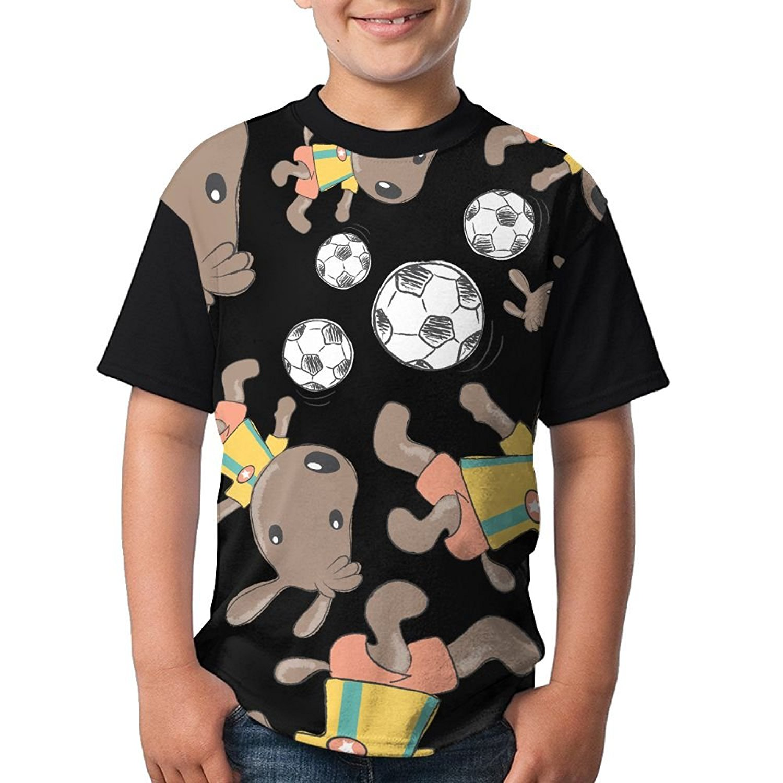 c44233216d3 Get Quotations · Australian Shepherd Soccer Ball Boy Girls 3D Printing  Fashion Round Neck T Shirts Funny Short-