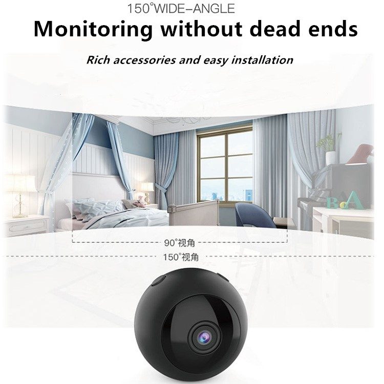 Super Night Vision 150 Degree Wide Angel Spy Camera Make Home Security Mini Camera With App W8
