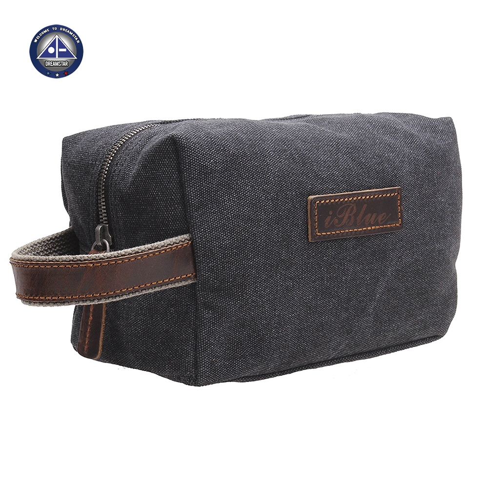 Hot Seller New Fashion Canvas Travel Toiletry Organizer Shaving Dopp Kit Cosmetic Makeup Bag 9 Inch