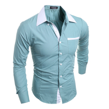 2017 top garde fabric 100% cotton anti-shrink inecpensive button fashion pocket men's formal korean fashion polo shirt