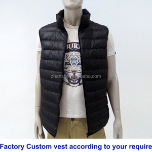 Wholesale Stylish Waistcoat Winter Warm Sports Quilted Padded Leather Vest Men